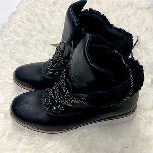 Espirit boots fur top nwt new leather upper
